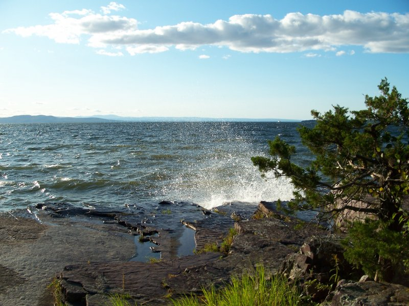 Lake Champlain Red Rocks Park, Burlington 2009 by Heavenly Ryan